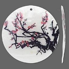 Closeout Price-Capiz Shell Focals/Pendants designs Tree,Flowers,Cherry,Butterfly