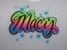AIRBRUSHED PERSONALIZEDT SHIRT!!! NEW  S, M, L, XL YOUTH & ADULT SIZES.