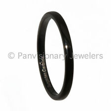Tungsten Carbide Ring Wedding Band 2MM Dome Black IP Thumb Toe Pinky Middle