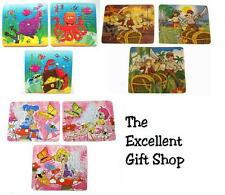 12 x Puzzles - Party Bag Filler Toy Gift - Sea Life, Pirates, Fairies 13 x 12cm