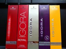 5 x SCHWARZKOPF IGORA ROYAL HAIR COLOR 60ml 100-0 TO 12-19 AND E-00 E-111