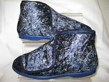 Ladies Lady Love Navy Velcro Slipper Boots Textile Uppers EDITH MI4A