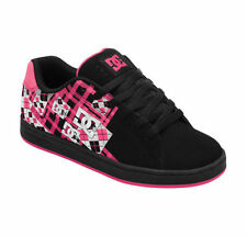 DC PIXIE PLAID Womens Skate Shoes (NEW - FREE SHIPPING) girls BLACK / CRAZY PINK
