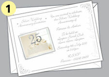 PERSONALISED SILVER WEDDING ANNIVERSARY INVITES