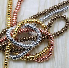 100pcs 4mm PRECIOUS METAL PLATED RONDELL GLASS BEADS - SELECT THE COLOR