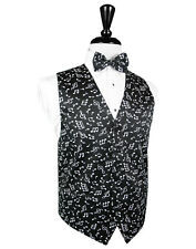 Mens Musical Notes Tuxedo Vest and Bowtie NWT ALL SIZES