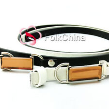 Gorgeous Lady Woman Girl Acrylic Crystal Buckle Faux Leather Belt BLT-I
