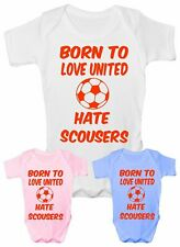 Love Man United Hate Scousers Football Babygrow Vest Baby Clothing Funny Gift