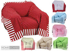 Homescapes Cotton Patchwork Decorative Throws for Bed and Sofa Washable at Home
