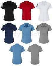 ADIDAS GOLF Ladies S-2XL CLIMALITE Mesh Texture Dri fit Womens Polo Sport Shirts