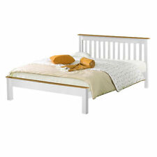 NEW 3ft Single Solid Pine Derby Bed White - Mattress Option