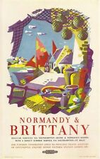 1960's British Railways Ferries to Normandy and Brittany Poster A3 Print