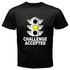 YELLOW stoplight CHALLENGE ACCEPTED JDM Auto Car RACING funny T-SHIRT C59