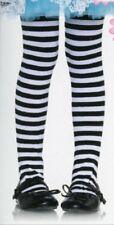Child Tights Polyester Striped Polyester Black & White M L XL Leg Avenue 4710