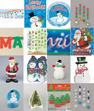 CHRISTMAS DECORATIONS XMAS PARTY BANNERS HONEYCOMBS DANGLERS SCHOOL OFFICE HOME