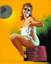 Vintage Is My Face Red? Pin-Up Earl Moran PINUP133 Art Print Canvas A4 A3 A2 A1