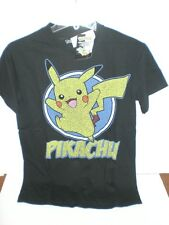 POKEMON BLACK PIKACHU ADULT T-SHIRT OFFICIALLY  LICENSED *SEE VARIATIONS FOR SZ*