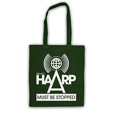 STOP PROJECT HAARP CONSPIRACY THEORY CANVAS TOTE SHOPPING SHOPPER BAG ALL COLS