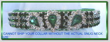 ~Diva In Emeralds~ Haute Couture Rhinestone Dog Cat Collar #486
