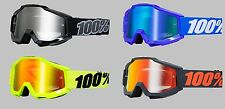 100% Accuri Solid Color Adult Motocross ATV Offroad MX Goggles