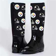 Pittsburgh Steelers Womens Enthusiast II Rain Boots  By Cuce Shoes
