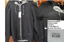 Black Gray Zipper Hood Fleece Pile Jacket  PRO CLUB Fleece Pile JacketS-7X #2
