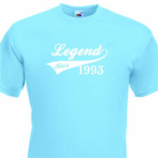 LEGEND SINCE 1993, FUNNY MENS TSHIRT 22nd  BIRTHDAY PRESENT 7 COLOURS 6 SIZES