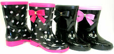 Girls Boys Kids Flat GALOSHES WELLIES RUBBER RAIN Boots *MULTI COLORS* ALL SIZES