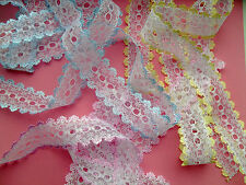 25 mts **CHOICE OF 27 COLOURS** SUPERIOR DOVECRAFT EYELET KNITTING IN LACE