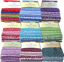 6 Fat Quarters 100% Cotton Fabric/Material Patchwork & Crafts - Various Colours