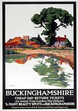 Buckinghamshire, Aylesbury. LNER Vintage Travel Poster by Schabelsky. 1923-1947