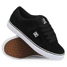 DC - SET S Mens Skate Shoes *NEW Black White Suede FREE SHIPPING Size 11 11.5 12