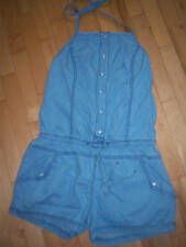 Ladies Halterneck Light Blue Denim Ladies Playsuit by TSEGA BNWT Size 10 Cotton