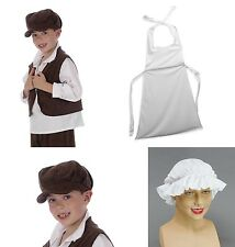 FANCY DRESS GIRLS BOYS VICTORIAN TUDOR MOB MOP CAP APRON WAISTCOAT URCHIN HAT