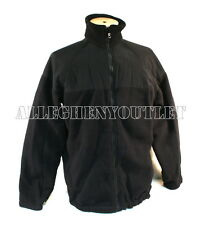 Boys / Young Mens POLARTEC 100 FLEECE JACKET COAT Black Military XS & SMALL NEW