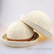 J2R Premium Fashion Item Natural Fedora Pork-pie Womens Gift Natural Jute Fiber