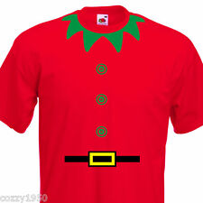 Christmas Elf Funny Mens T-Shirt , 8 Colours 6 Sizes. Xmas Party,Present Gift