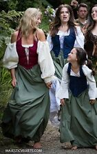 3P WOMEN RENAISSANCE PEASANT PIRATE DRESS & CHEMISE 2 4 6 8 10 12 14 16 18 22 24