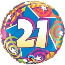 """21st 30th 50th 80th FOIL HELIUM 18"""" BALLOONS MILESTONE BIRTHDAY COSTUME PARTY"""