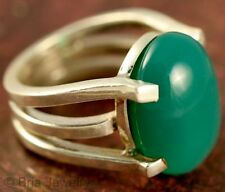 GREEN ONYX THREE PILLAR RING JEWELRY GENUINE STERLING SILVER ARTISAN HANDMADE