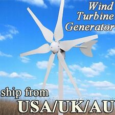 PASS ISO9001 ROSH APPROVAL WIND TURBINE GENERATOR KIT 300W MAX 6 BLADES a8