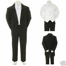 NEW Black Wedding Formal Tuxedo Suit 4 Baby, Toddler & Boy S M L XL 2T 3T 4T-20