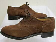 Mens Loake Brown Suede Leather Lace Up Formal Brogue Shoes 202Ds