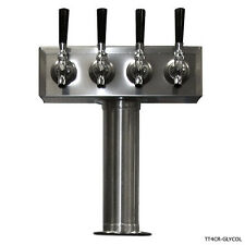 Glycol Ready T Towers - Stainless Steel - 2 to 8 Faucets - Commercial Draft Beer