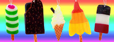 Ice Cream / Lolly Necklace - Fab, Feast, Twister, Mr Whippy, Rocket - HandMade!