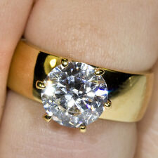 Gold Engagement Cocktail or Fashion Dress Ring gp cz Various Sizes Available