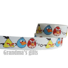 "7/8""22mm Angry Bird Printed grosgrain ribbon 10/50/100 yards hairbow Wholesale"