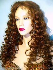 Thin Skin Silk Top 100% Human Hair Indian Remi Remy Full Lace Wig Wigs #9/30 mix