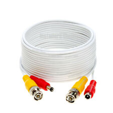SECURITY CAMERA CABLE CCTV WIRE VIDEO POWER BNC 10FT 20FT 30FT 50FT 75FT 100FT