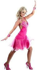 LADIES SALSA DRESS LATIN TANGO FANCY DRESS COSTUME DANCE WEAR PARTY XS - L